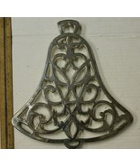 Vintage Silver Plated Trivet Bell Shape By WM. A. Rogers 6 Feet with Rub... - $12.00