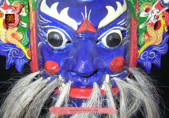 Chinese Drama Home Wall Décor Opera Mask 100% Wood Craft Folk Art #109 Pro