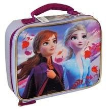 DISNEY FROZEN II ANNA & ELSA BPA&Lead-Safe Insulated Lunch Bag Tote Box ... - $12.86