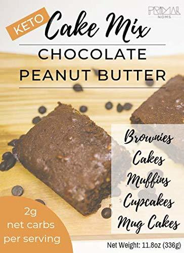 Primal Noms Keto Chocolate Peanutbutter Cake Mix - Make Keto Muffins, Cupcakes,