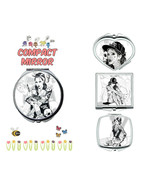 Tattoo Girl makeup mirror compact mirror purse mirror travel mirror - $11.99