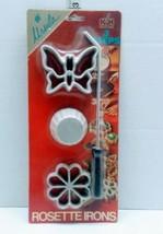 URSULA 4 piece Rosette Iron NEW in Package Kalkus-Hirco Butterfly Flower  - $17.81