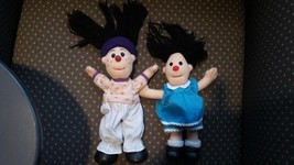 Vintage The Big Comfy Couch Molly Loonette Clown Rag Mini Plush Toy Doll Set Lot image 2
