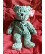 Green SHAMROCK Bear Ty Beanie Baby Irish March 17, 2000 RETIRED Collecti... - $9.97
