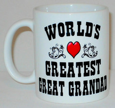 World's Greatest Great Grandad Mug Can Personalise Great Fathers Day Gra... - $9.78