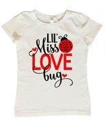 Valentines Day Shirt for Girls, Lil Miss Love Bug Shirt, Girls Valentine... - $12.95+