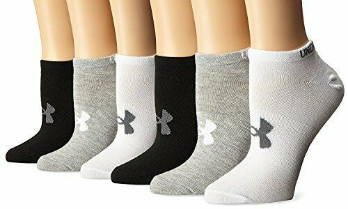 Primary image for Under Armour Women`s 6PK Essential Charged Cotton Socks No Show M U3444S6-960