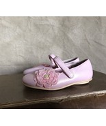 Pearly PINK SHIMMER MARY JANE Shoes Flats Shiny FLOWER Corsage 5 Party G... - $19.95