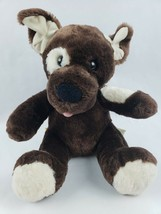 "Build a Bear Dog 12"" Plush Brown Tan Light Eye Spot Tongue Stuffed Anima... - $19.34"