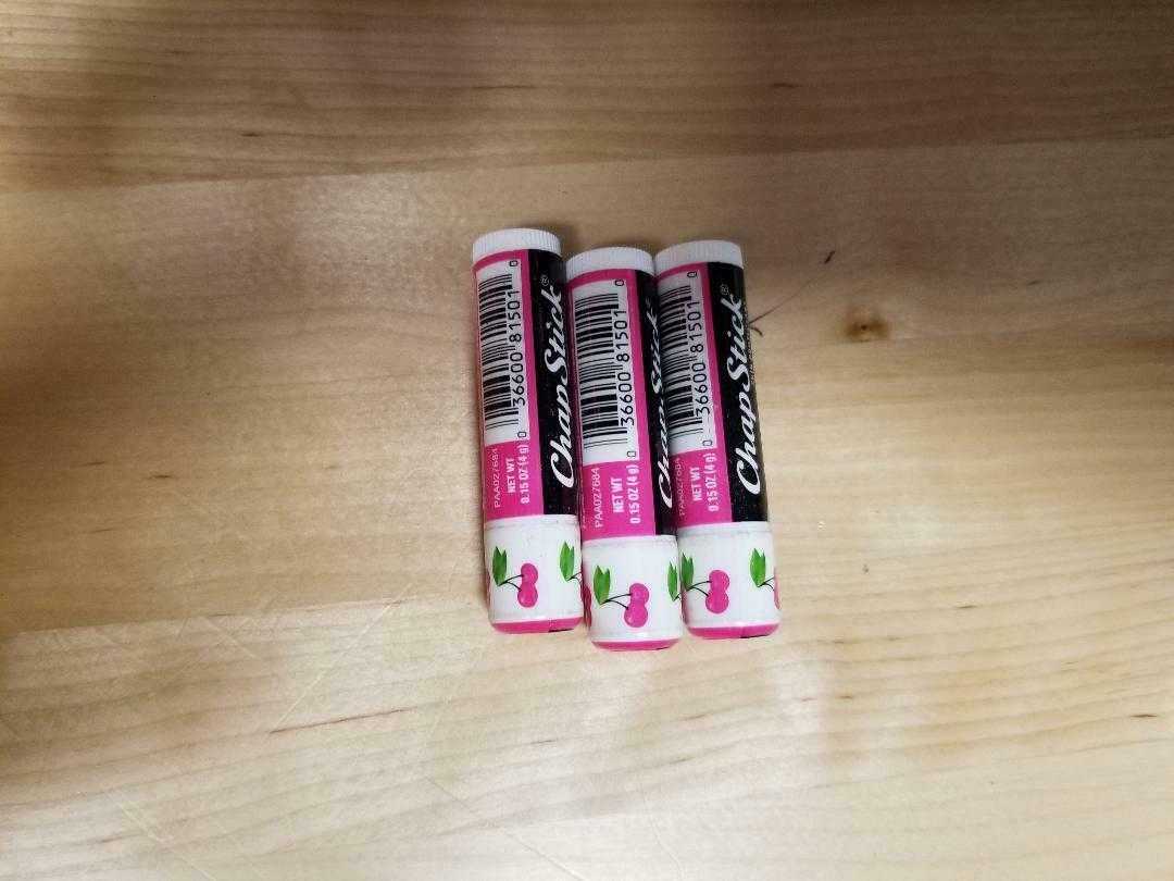 Primary image for LOT OF 3 Chapstick Lip Balm 1tube cherry flavored brand  New sealed. L22