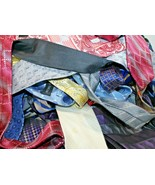 Mens Neck Ties Assorted Random Lot of 10 Business Casual Wear Crafting C... - $11.69