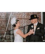 Great Gatsby Bridal Headpiece Wedding Hairpiece Crystal Rhinestone Fasci... - $82.00