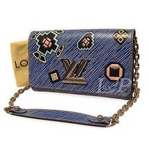 Louis Vuitton Twist Chain Cross Body Wallet Epi Denim M61490 Authentic L... - $1,516.80