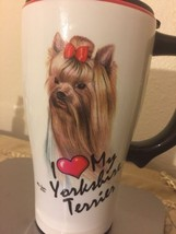 SPOONTIQUES I Love My Dog Series 16 oz. Ceramic Travel Coffee Mug FS - $10.85