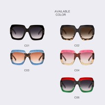 2018 Oversized Square Luxury Sunglasses Women Fashion Gradient 49mm Lens... - $12.98