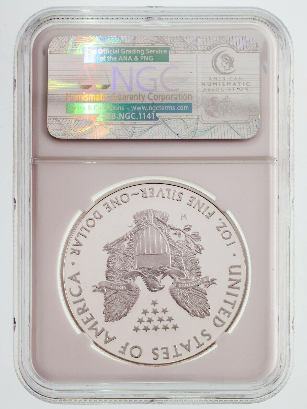2013-W Silber American Eagle Beweis Ausgewählten von NGC As PF70 Ultra Cameo image 2