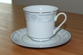 Vintage Sheffield Blue Whisper Porcelain Fine Cup & Saucer 1985 Made In Japan -B - $9.49