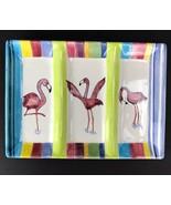 Tika By Lotus International Flamingo 3 Slot Serving Tray Appetizer Dish ... - $29.69