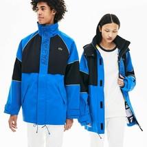 Lacoste Unisex LIVE Canvas Technical Parka Jacket, Blue/Black, Size S BN... - $129.75