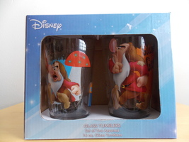 Disney Grumpy 2pc. Glass Tumblers  - $25.00