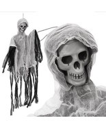 Halloween Decoration Spooky Party Creepy Scary Skull Haunted Hanging Dol... - $18.65 CAD