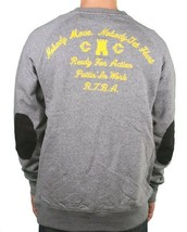 Crooks & Castles Mens Speckle Charcoal Grey Puttin in Work Crew Neck Sweater NWT image 2