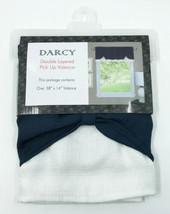 "Achim Home Furnishings  Navy/White Darcy Window Curtain Valance, 58"" x 14"" - $11.99"