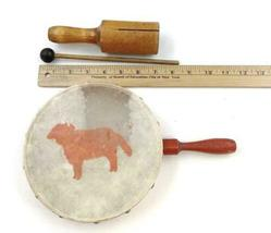 Vtg 14pc Instrument Lot Drum Triangle Cymbal Maracas Percussion Tambourine image 3