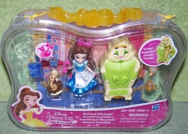 "Disney Princess Little Kingdom Charmed Wardrobe Belle 3"" Doll Mini Plays... - $16.50"