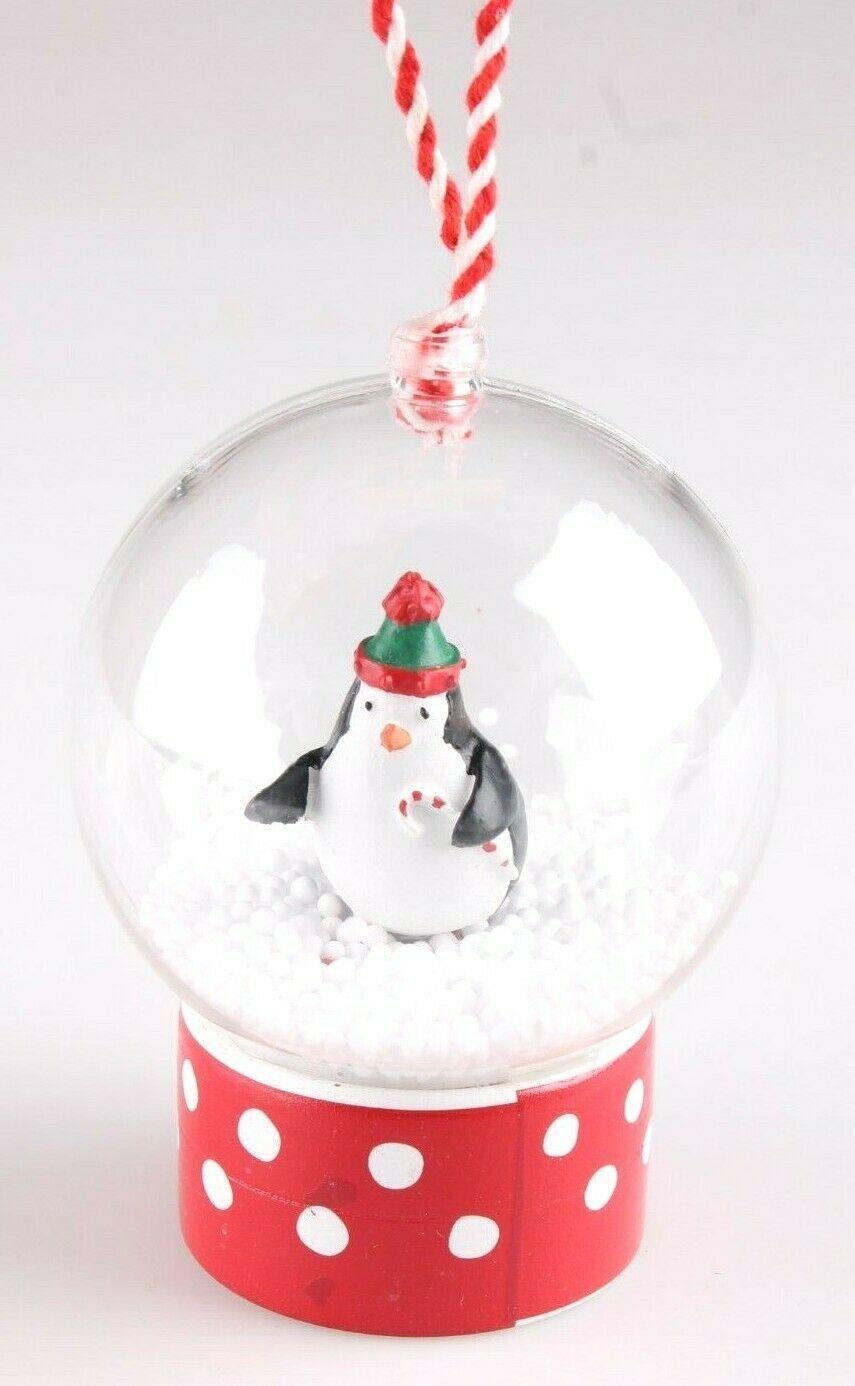 Wondershop Merry Lane Red Penguin Snow Globe Christmas Tree Ornament NEW