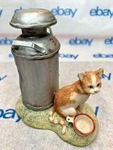 "Lowell Davis ""Can't Wait"" Figurine  1988 Schmid Cat Bowl Milk Can 221004 - $69.28"