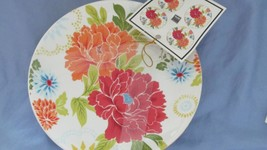 """Set of 4 -  222 Fifth Huang Floral Appetizer Plates  ~ 6"""" Diameter  NEW - $9.00"""
