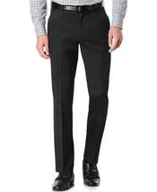 TM Exposure Men's Black Slim Fit Dress Pants Slacks Flat Front w/ Defect 38x30