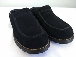 UGG Australia 5349 Womens Size 7 Black Suede Shearling Lined Slip-On Mules Clogs - $46.74
