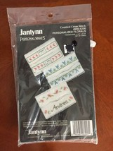 Janlynn 990-6206 Counted Cross Stitch Personalized Florals Tissue Holders (30) - $8.86