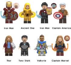 New 8pcs Avengers Endgame Fat Thor Valkyrie Ancient One Tony Stark Minifigures - $14.99