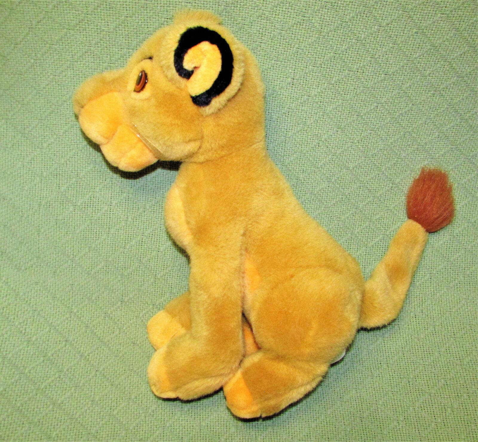 """14"""" SIMBA Young Lion King Plush Stuffed Disney Store CUB Plush Stuffed Animal"""