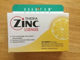 Quantum Thera Zinc Lozenges, 24 Lemon, 2 Boxes (48 Total) - EXP 07/2019 - $7.95