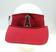 Anaheim Angels Drew Pearson Red Baseball Visor Adj Hat MLB Genuine Merchandise - $18.75