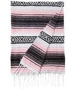 Authentic 6' x 5' Mexican Siesta Blanket (Pink) - $8.86