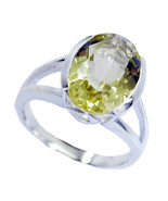 Lemon quartz ring - 925 Sterling Silver Ring -Yellow Ring - baby jewelry... - $29.96