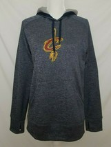 Adidas Cleveland Cavaliers Womens L Sweatshirt Hoodie Climawarm Gray L/S EUC - $19.99
