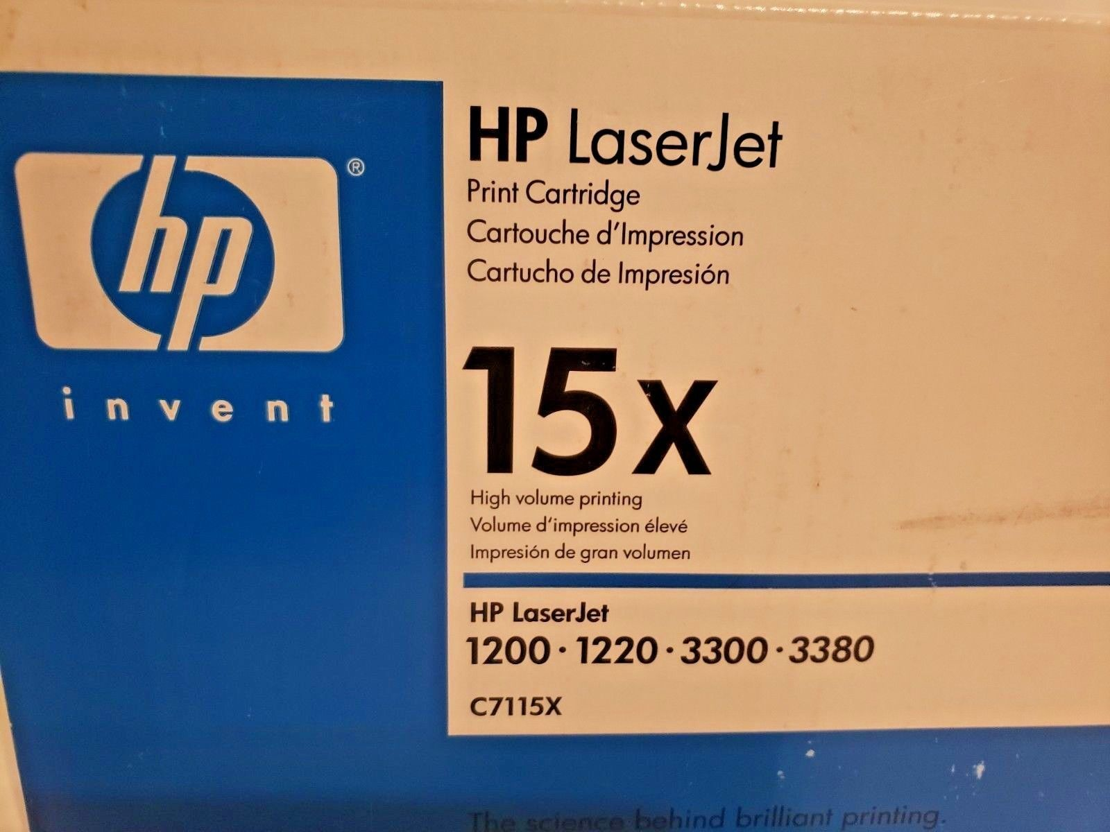 New GENUINE HP LASERJET 15X BLACK TONER C7115X image 2