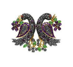 Victorian 2.36ct Rose Cut Diamond Gemstones Women's Brooch Christmas Wedding - $498.83