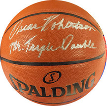 Oscar Robertson signed Spalding NBA I/O Basketball Mr. Triple Double (Mi... - $248.95