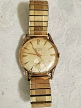 VINTAGE BENRUS 21 JEWELS MENS WRIST WATCH 10K GF TOPS CAP 5 - $52.36