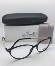 New SILHOUETTE Eyeglasses SPX 1578 75 9020 56-16 135 Black & Bronze Frames image 3