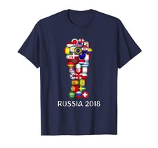Dad Shirts - Russia World Football 2018 All 32 Teams Soccer Gift Tshirt Men - $19.95+
