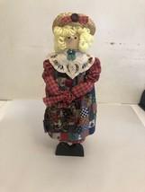 Vintage Hand Maid Doll(wood Cloth) - $18.70
