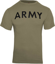 Coyote Brown AR 670-1 Army Physical Training PT T-Shirt US Workout Exerc... - $10.99+